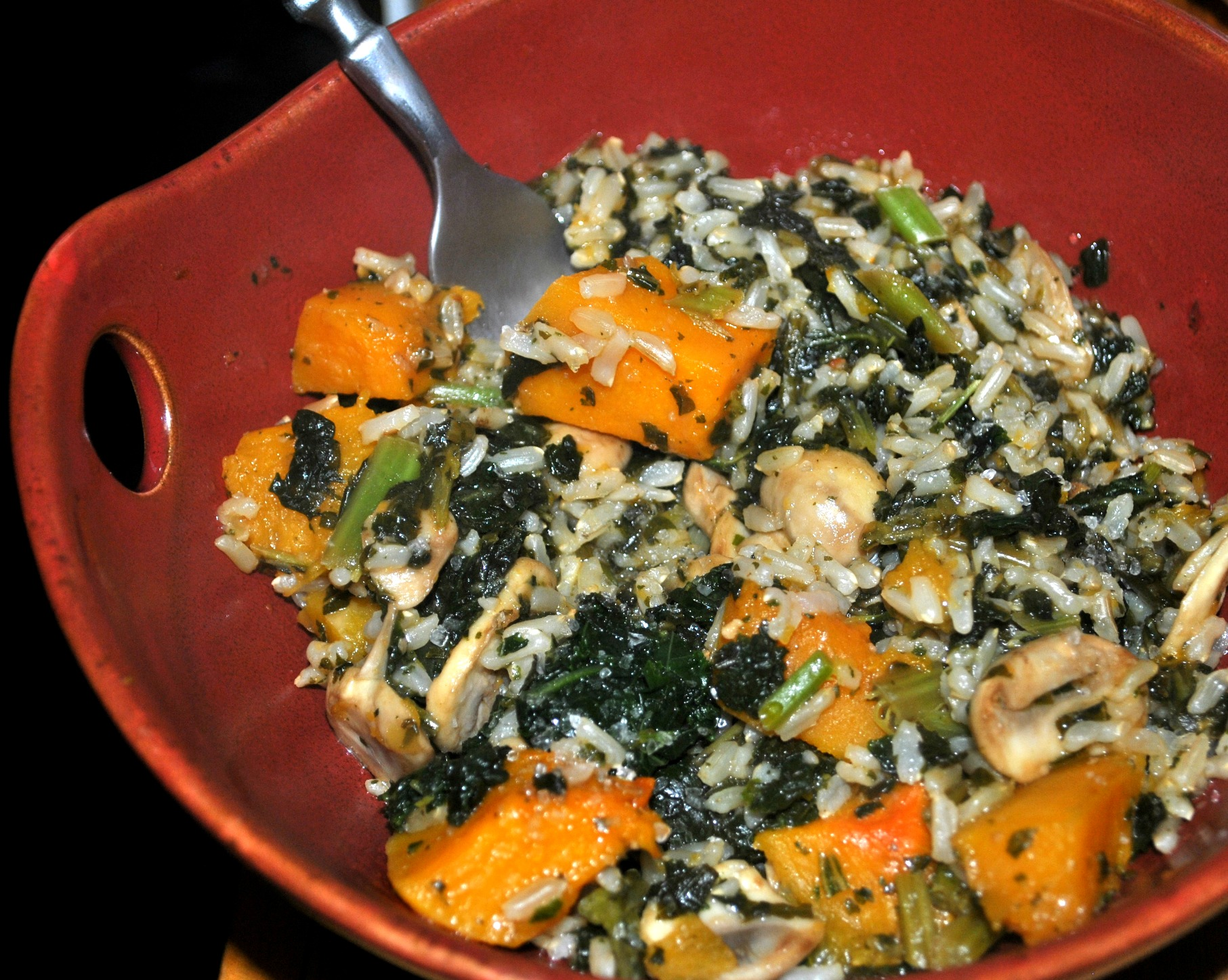 Butternut Squash Kale Rice Bowls |