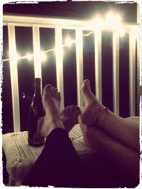 porch loungin storm watchin