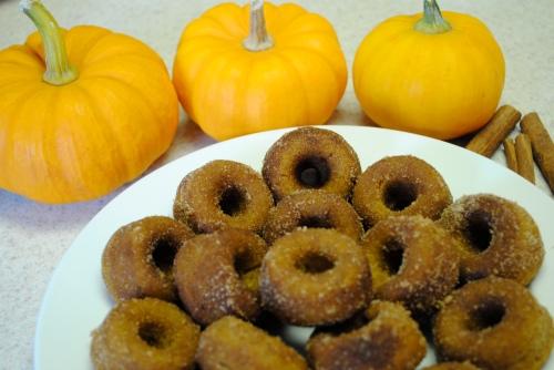 Mini Pumpkin Baked Donuts
